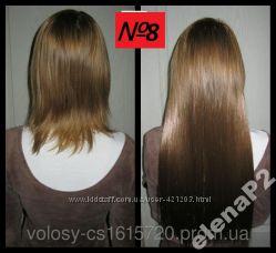 Волосы ТЕРМО на заколках тресс прядь 60см 8