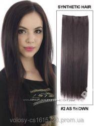 Волосы на заколках затылочная прядь 60см 2