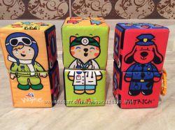 Кубики мягкие с грызунками