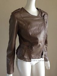 Rezrekshn by esther chen brown leather jacket