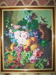 Картина вышита крестом Натюрморт