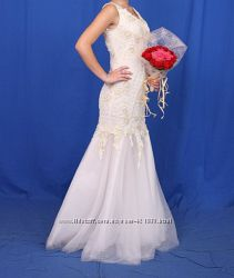 свадебное платье шубка
