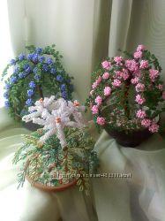 Цветы и деревья из бисера - Пираканты