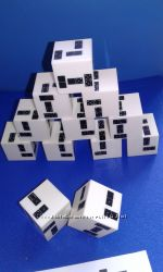 кубики Домино DICE DOMINOES набор в коллекцию головоломок и настольных игр