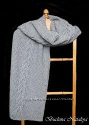 Вязаный шарф ручной работы
