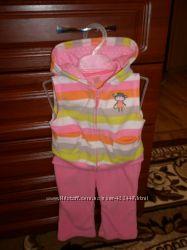красивый флисовый костюмчик картерс для малышки
