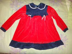 Велюровое платье на 4-5 лет