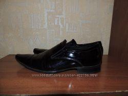 мужские туфли из лакированной кожи