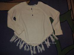 Оригинальный свитер, пончо с рукавами