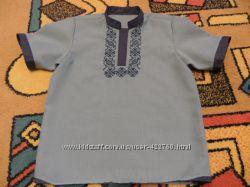 сорочка з елементами вишивки і джинсом