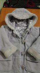Флисовое лиловое пальто George 98-104