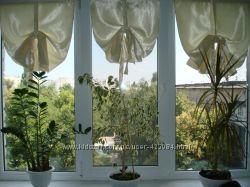 Римские шторы, солнцезащитные  шторки, рулонные  шторы.