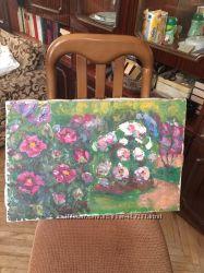Картины, старые, рисовали друзья бабушки