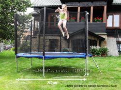 Батут детский 244 см. 8 ft. с защитной сеткой, в наличии