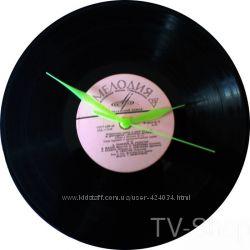 Годинник настінний дизайнерський диск платівка вініл для інтерєру