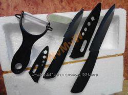 Набор ножей керамических 5 и 3 дюйма  овощечистка