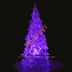 Праздничная LED светодиодная елочка меняет цвет