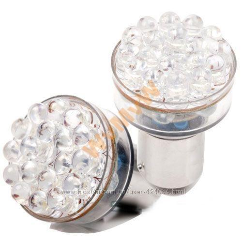 Автомобильные Светодиодные лампы P21W 1156 Ba15s 24 LED х 2 шт.