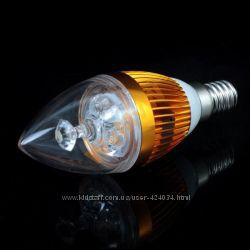 Светодиодная LED лампа 3W  25 Вт цоколь Е14