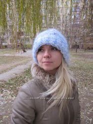 Вязаная шапка, теплая шапка, зимняя шапка