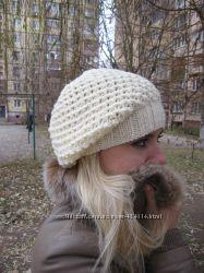Шапка вязаная женская, шапка-чулок, шапка-мешок