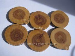 Спилы деревянные для творчества 6 шт