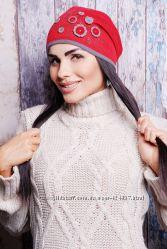 В наличии Красивая женская качественная шапка на флисе  стразы