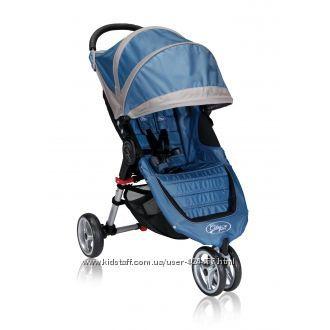 шикарная коляска baby jogger city mini синяя