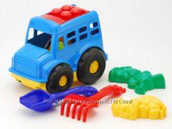 Набор игрушек для песочницы с машинкой большой выбор