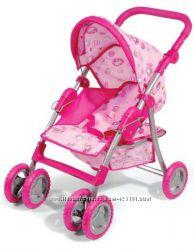 Детская коляска для кукол, тросточка металлическая с поворотными колесами