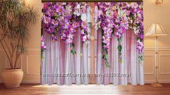 Фотошторы Ламбрекены из цветов