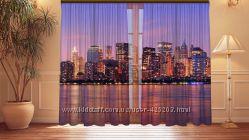 Фотошторы города с 3D изображением
