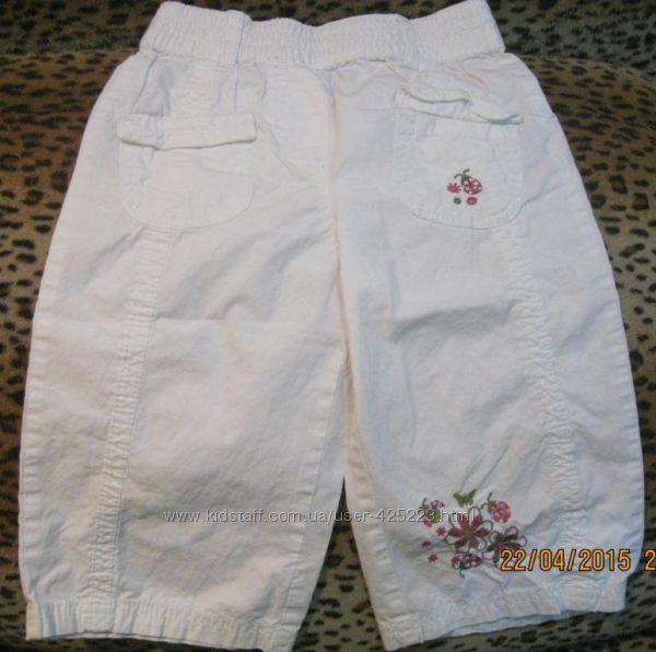 Белые капри на девочку 116 см
