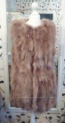 Меховая жилетка Роскошный меховой жилет , меховая жилетка из лисы