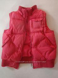 Теплая жилетка для модницы