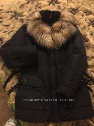 Женский пуховик, размер М, натуральный пух