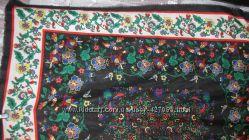 Яркий платок-палантин с модным цветочным узором и  жар-птицами