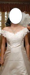 Свадебное платье 46р.