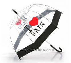 Зонты i love rain я люблю дождь прозрачные