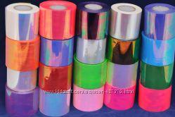Фольга битое стекло 10см, 1м, опт, 18цветов в наличии