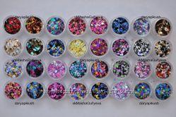 Конфети капитошки для декора ногтей, 32 вида в наличии