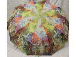 Женские зонты, полуавтомат, Антиветер, 10 спиц