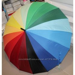 Зонт трость Радуга 16 спиц в наличии