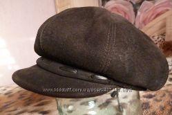 теплые шапки  натуральный замш и мех