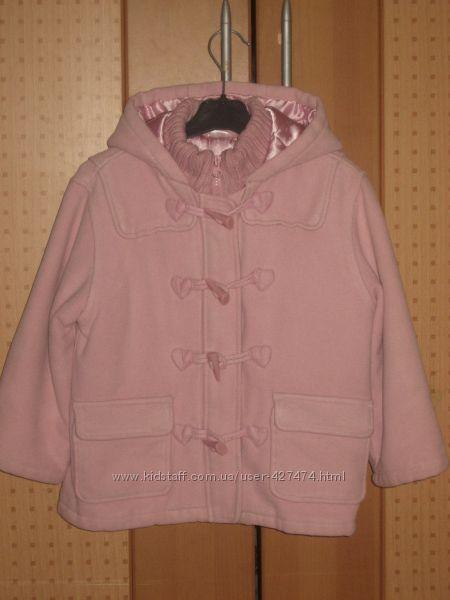 Куртка пальто деми еврозима  на 4-6лет