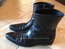 Кожаные мужские сапоги Hugo Boss 42размер