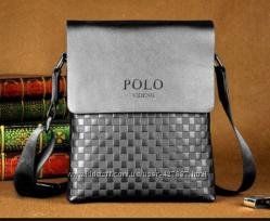 Мужская стильная кожаная сумка Polo. Распродажа.