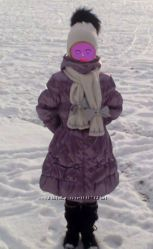 Красивый и теплый пуховик для девочки.