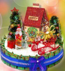 Конфетные  подарки к новому году