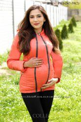 Стильные демисезонные куртки-жилетки для беременных и кормящих мам 46-52 р.